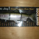 "Castaic Rock Hard Platinum 10"" Swimbait, Mike Long Trout Swimbait Lure, Floating"