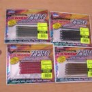 "TEAM DAIWA ( T.D.) ZERO 4"" CENTIPEDE WORMS (4 Sealed Packs )"
