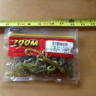 "ZOOM 4"" Mini Lizard, plastic bass bait, Chartreuse Pumpkinseed, 15 ct pack"