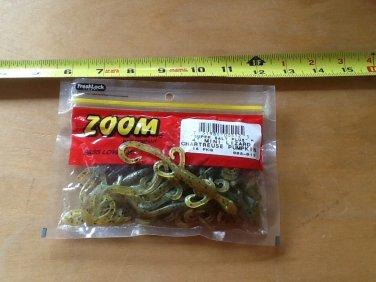"ZOOM 4"" Mini Lizard, plastic bass bait, Chartreuse Pumpkinseed, 15 ct pack"