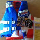 Maui & Sons Child's Life Vest (red, white, blue)  30-50 lbs, USCG Approved Type 3 PDF, New w. Tags.