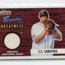 2004 Bowman Heritage CC SABATHIA Threads Of Greatness Jersey Card TG-CS