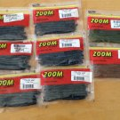"8 pks Zoom 5.25"" Finesse worms, Junebug,pumpkinseed, watermelonseed, 160 bass plastics total"