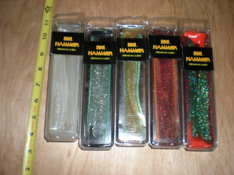 "5 Packs Big Hammer 7"" Hammer Swimbait Tails, 5 colors,Bull Calico,Lingcod,Lures"