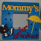 Blue &quot;Mommy&#39;s Lil&#39; Stinker&quot; - Cute Crafty Hand Painted Picture Frame for Kids (8 in x 8 in)