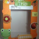 Orange-Pumpkin Farm Field Trip-Cute Crafty Hand Painted Picture Frame for Kids (5 in x 7 in)