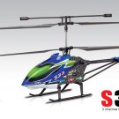 Syma S33 RC Helicopter 3.5CH 2.4Ghz Gyro LCD Display RGB Light EU Plug Blue