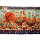 Rooster Sunflowers Braided Kitchen Rug