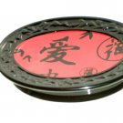 Red Black Asian Oriental Soap Dish