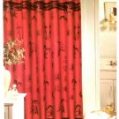 Oriental Red Black Asian Bamboo Shower Curtain