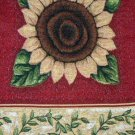 Sunflowers Table Runner Red Gold