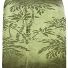 Green Tropical Palm Tree Fabric Shower Curtain
