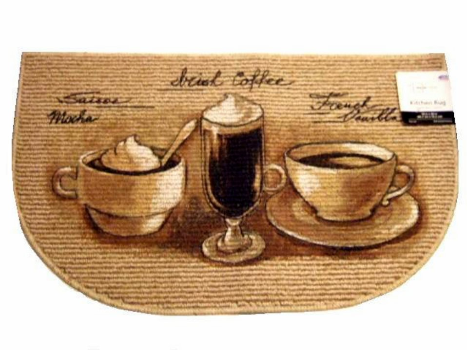 Mocha Irish Coffee French Vanilla Kitchen Rug
