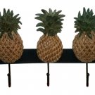 Tropical Pineapples Wall Hooks