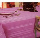 Satin Stripe Fabric Lavender Tablecloth