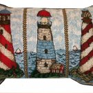 Nautical Lighthouses Pillow Beach Decor