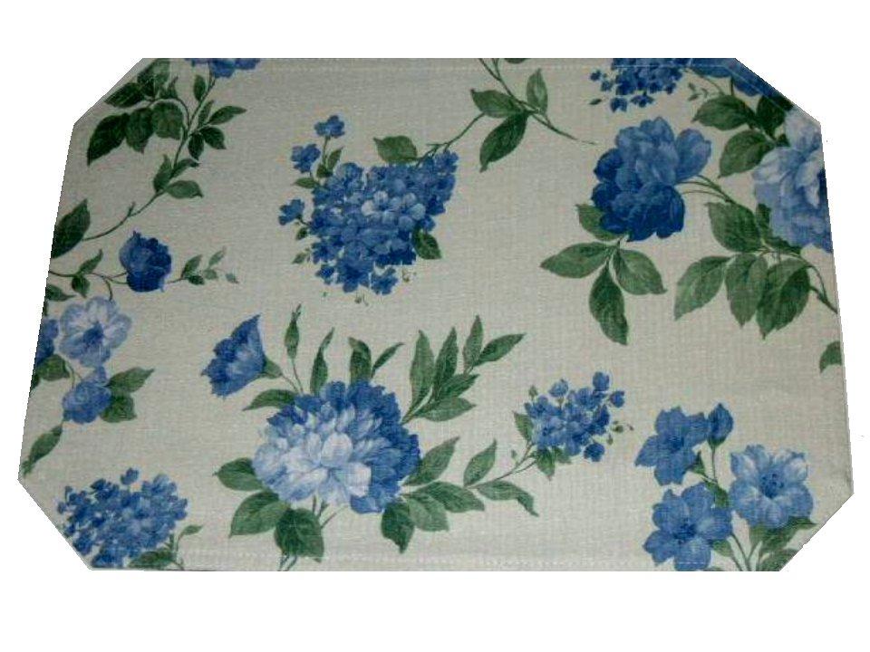 Floral Placemats Blue Flowers