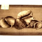 Beige Brown Seashells Bath Rug