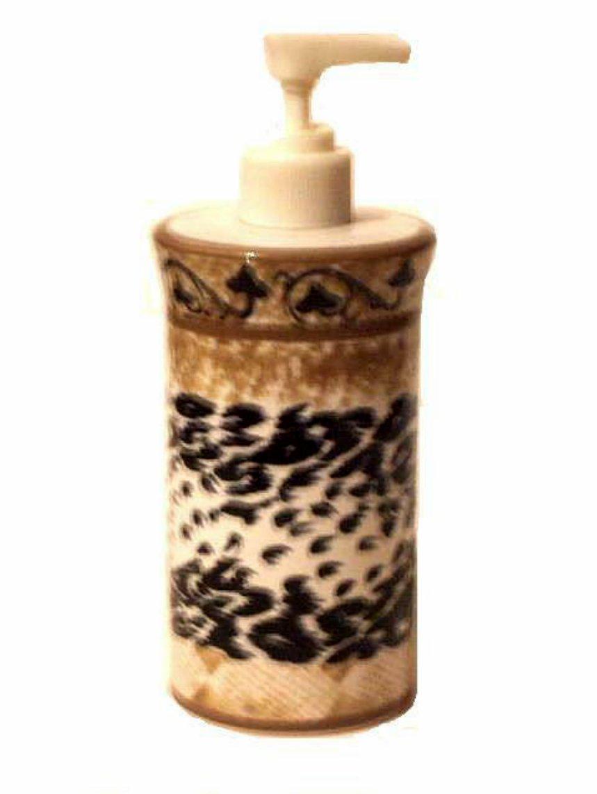 Animal Print Soap Pump Lotion Dispenser Safari Bath Decor