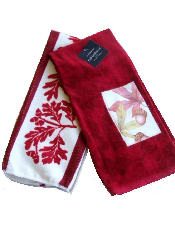Autumn Leaves Kitchen Towels Set