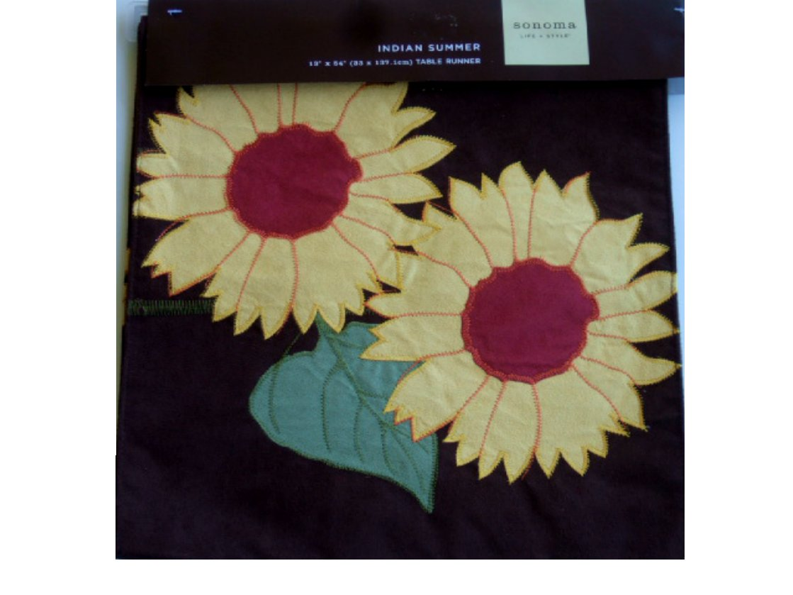 Brown Indian Summer Sunflowers Table Runner