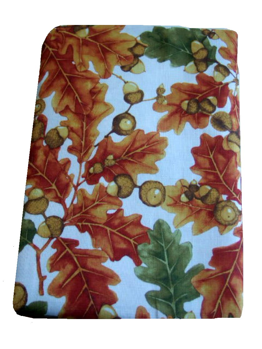 Autumn Leaves Acorns Fall Tablecloth
