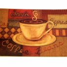 Coffee Themed Kitchen Rug Espresso Latte Cushion Mat
