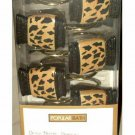 Popular Bath Dynasty Cheetah Print Brown Resin Shower Hooks