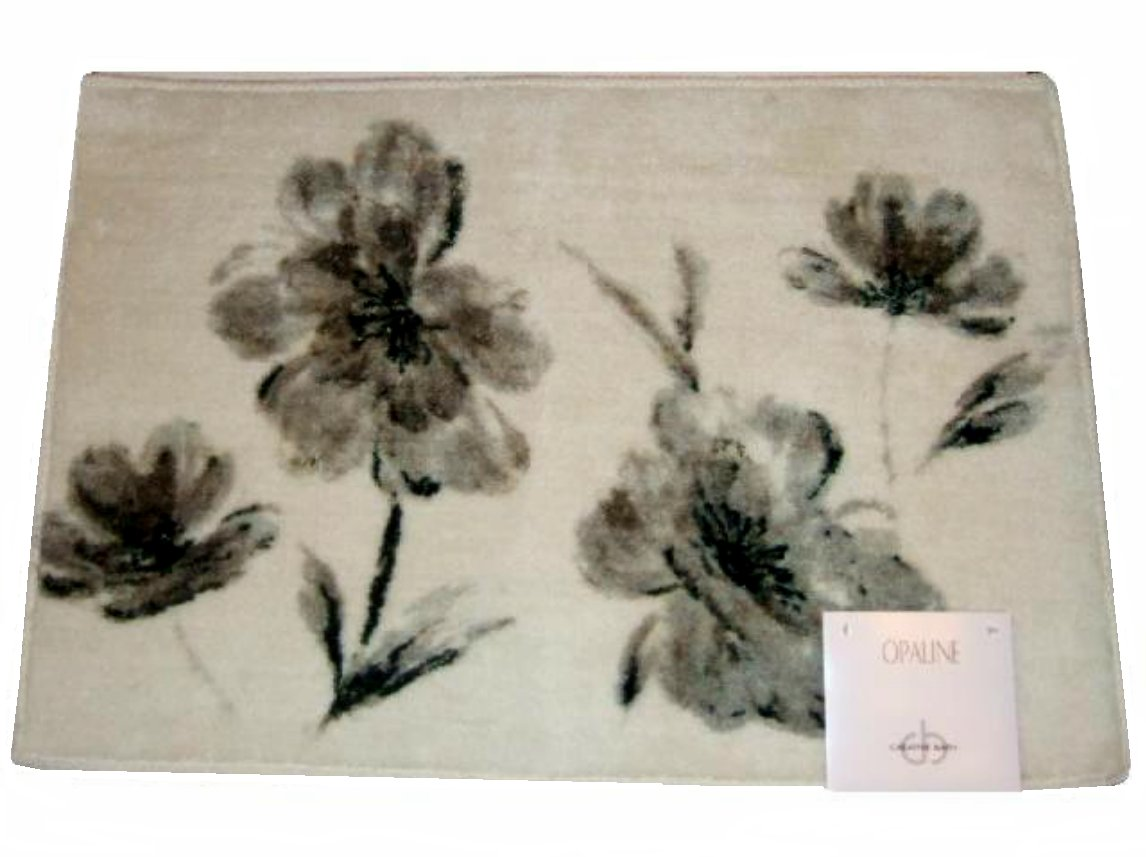 ivory gray floral bath mat creative bath bathroom rug