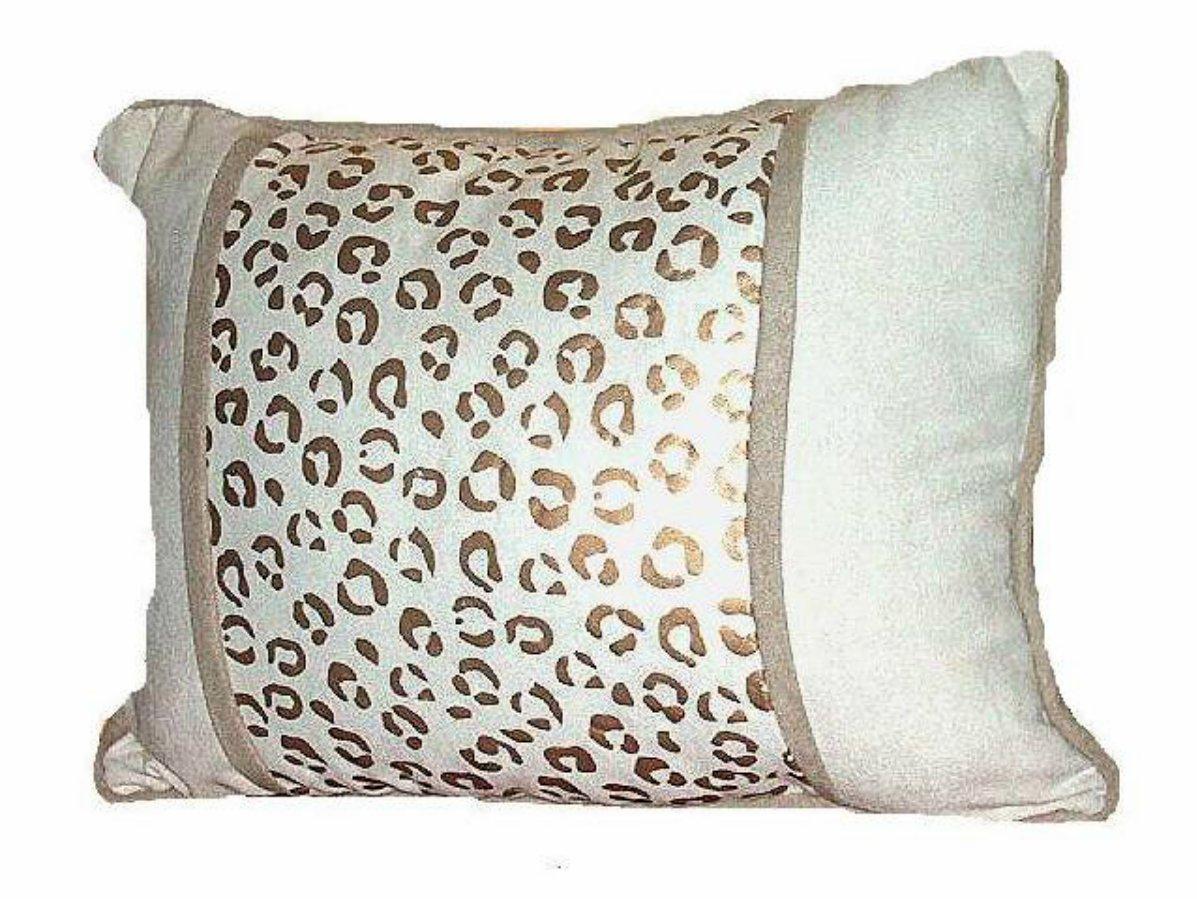 Tan Brown Leopard Print Pillow