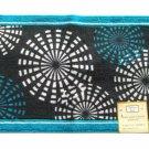 Turquoise Blue Geometric Bath Mat Rug