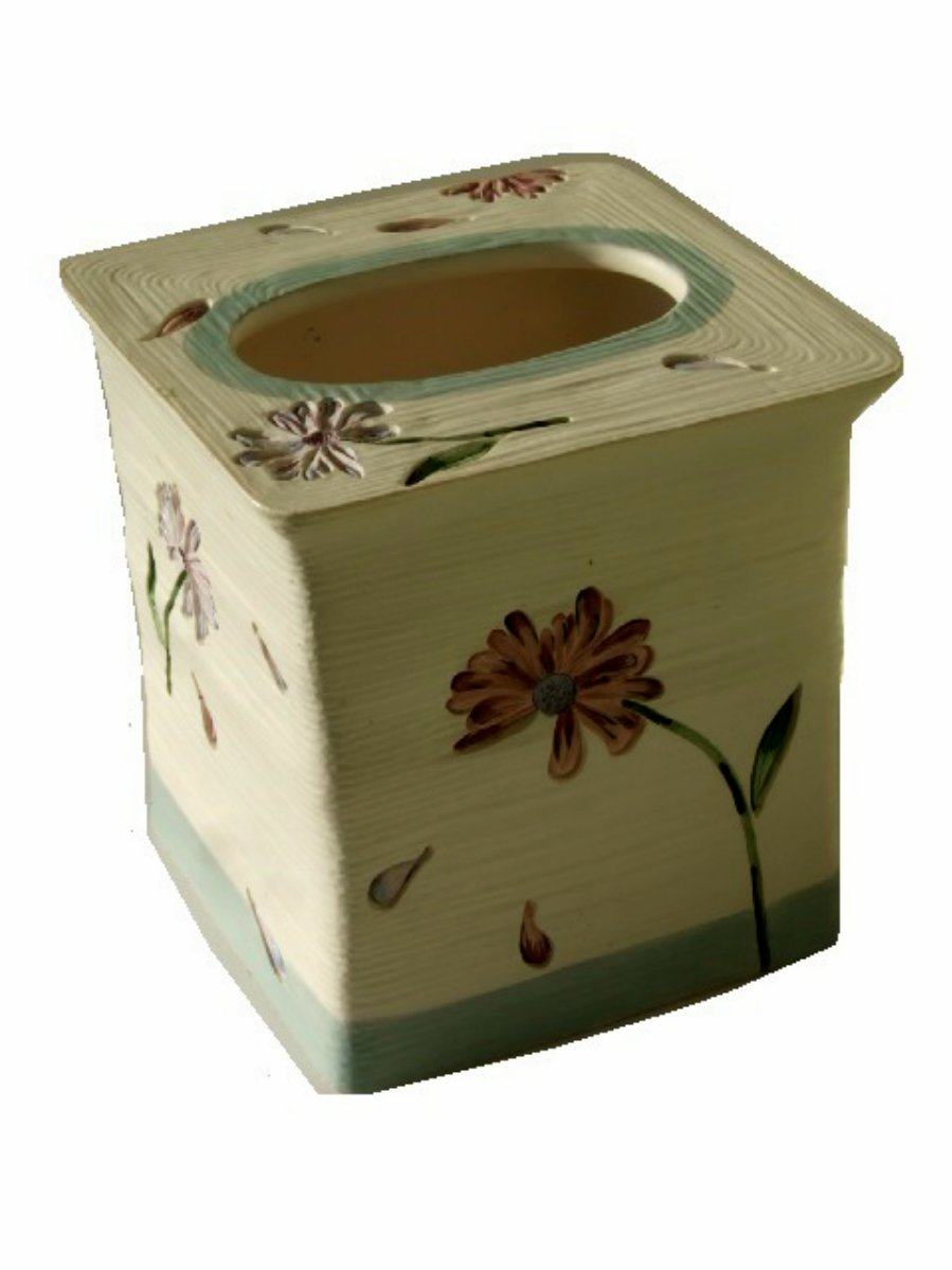 Floral Tissue Box Cover Purple Pink Flowers