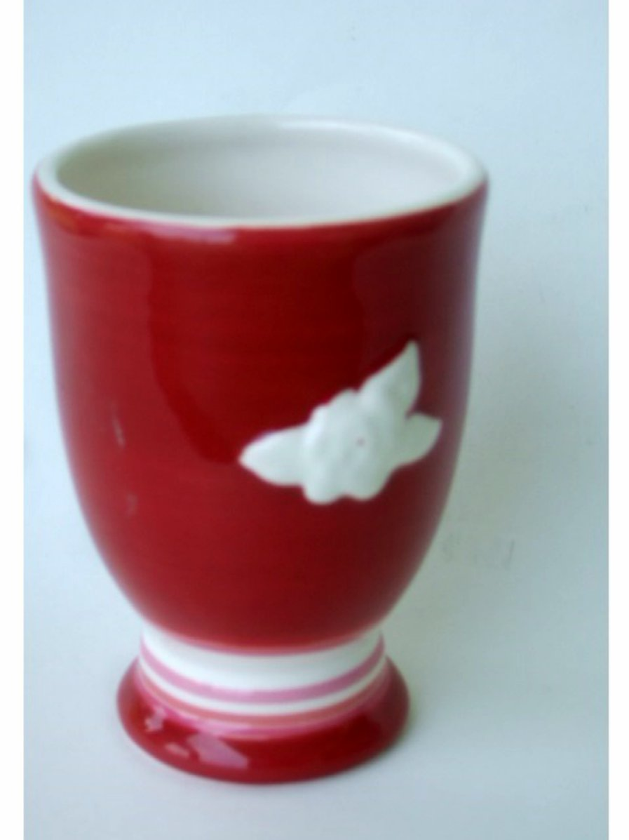 White Rose Red Ceramic Bathroom Tumbler