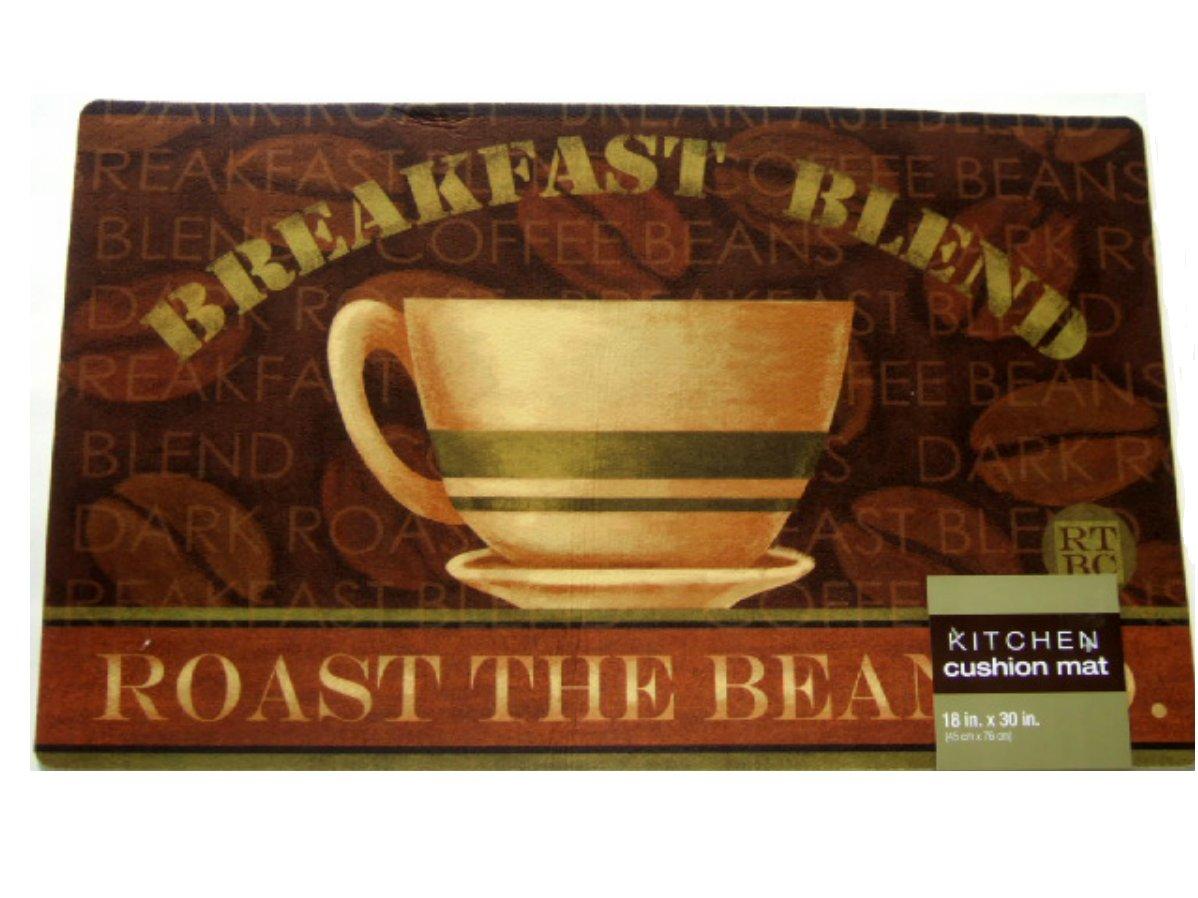 Coffee Themed Kitchen Rug Cushion Mat