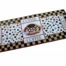 Coffee Cup Kitchen Rug Runner