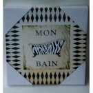 Zebra Stripe Bath Tub Bathroom Wall Decor