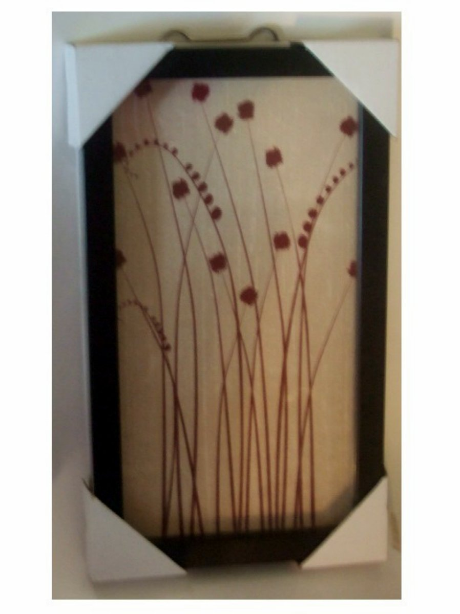 Floral Print Framed in Glass Wall Art