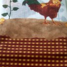 Country Roosters and Sunflowers Kitchen Curtains Set