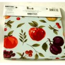 Apples Grapes Fruit Themed Hot Pads Trivets