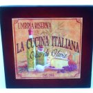 Tuscan Themed Trivet Ceramic Tile and Wood