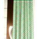 Aqua Turquoise Lattice Print Fabric Shower Curtain