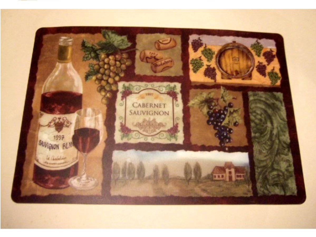 Grapes Wine Themed Placemats Set