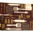 Kitchen Utensils Memory Foam Tapestry Kitchen Comfort Rug