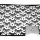 Gray White Geometric Memory Foam Bath Mat