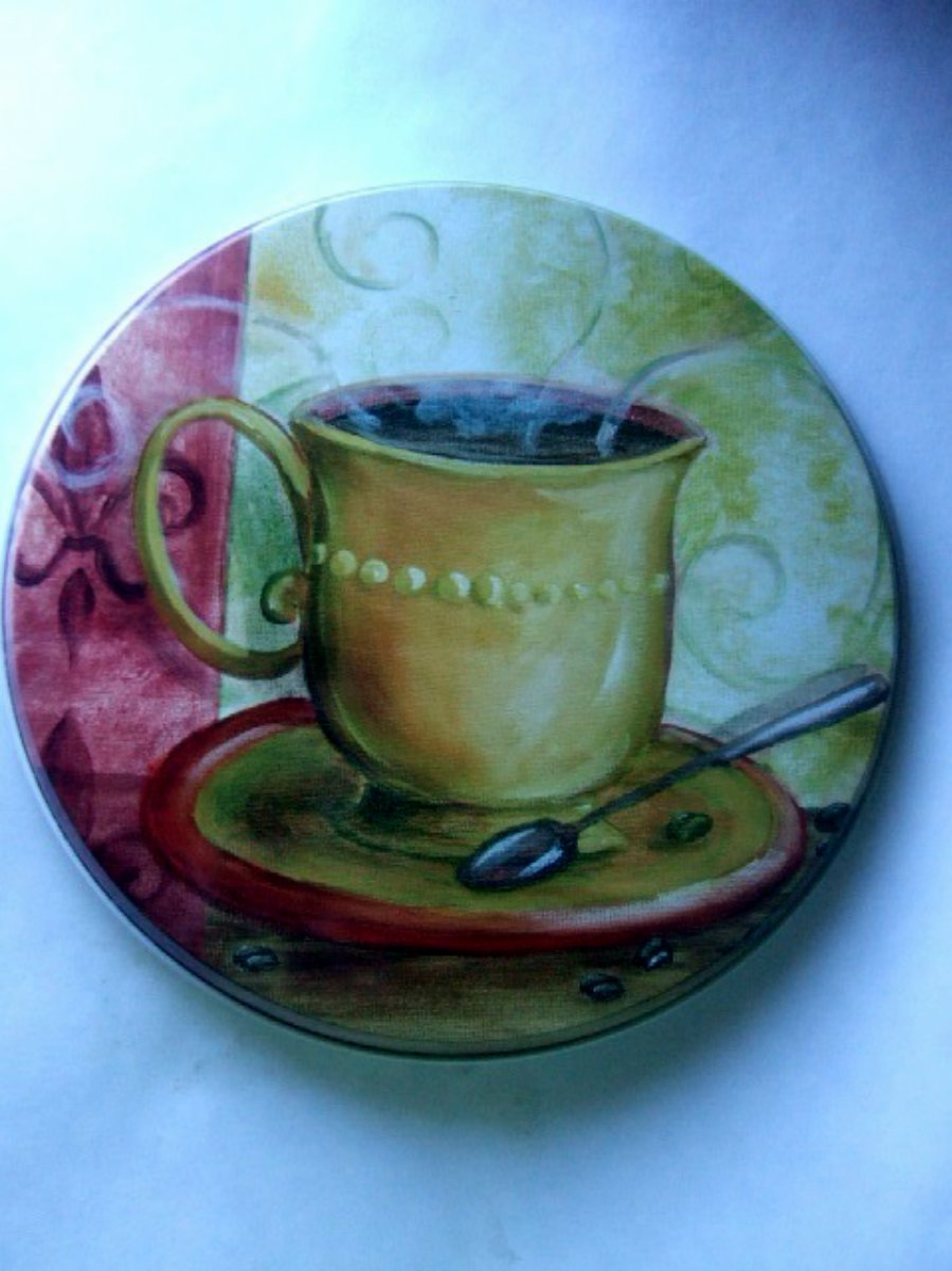 Coffee Cup Stove Range Burner Covers