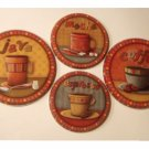 Coffee Themed Stove Range Burner Covers Set