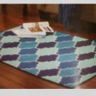Blue Lattice Area Rug Fretwork