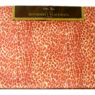 Animal Print Placemats Set