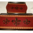 French Fleur De Lis Kitchen Vanity Tray Set