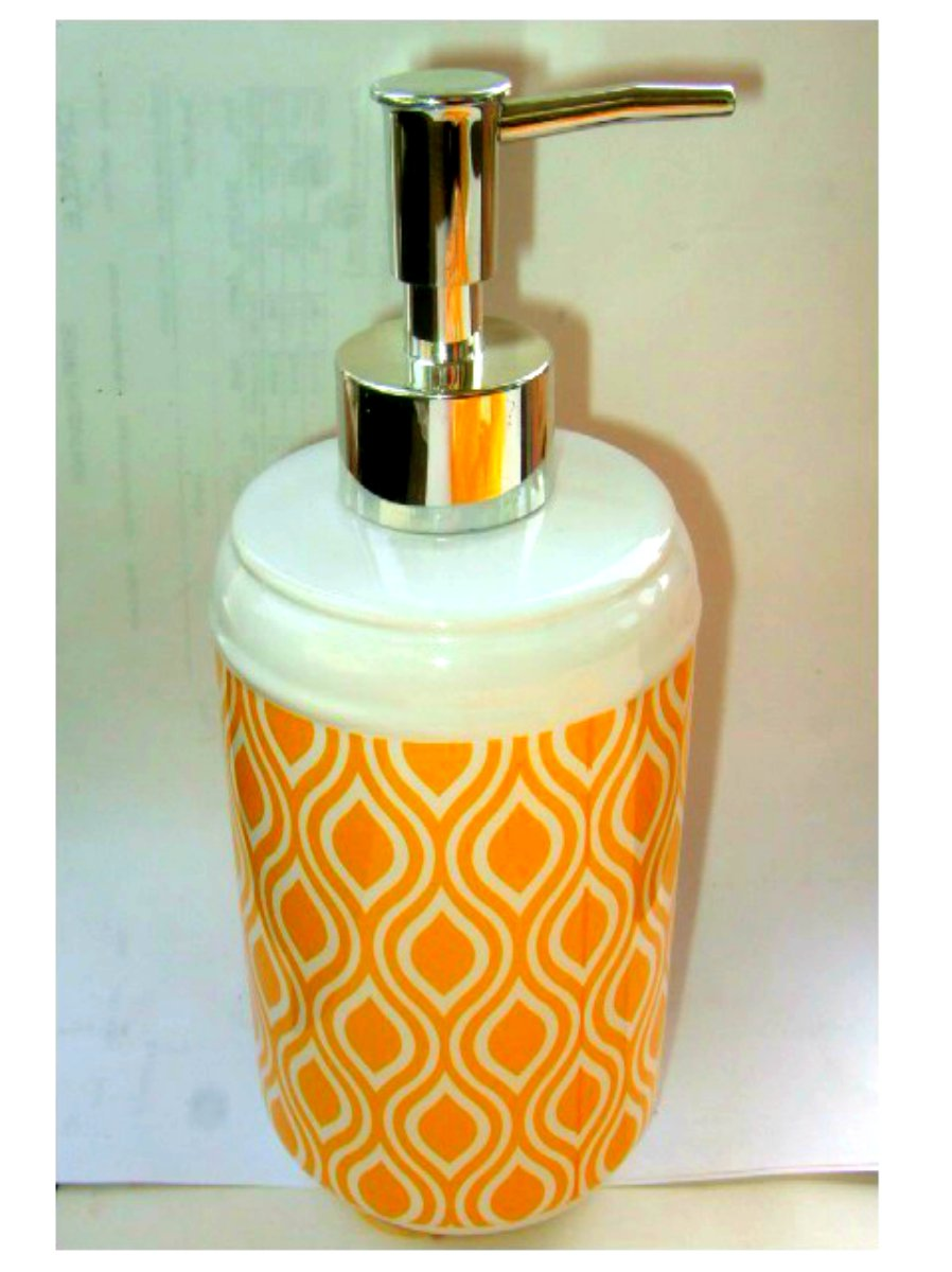 Yellow Geometric Resin Lotion Pump Soap Dispenser